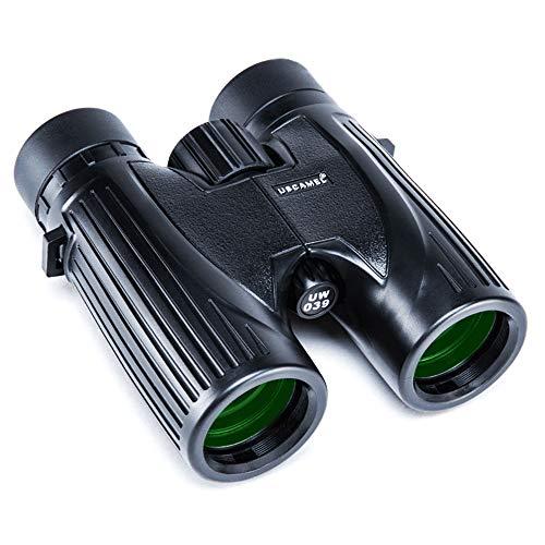 USCAMEL Binoculares 8x36 para Adultos Observación de Aves de Caza Profesional compacta BAK4 al Aire Libre, Negro (Negro)