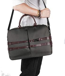 "Mens Bag New Men's Vintage Composite Fiber Work Bag 14"" Laptop Waterproof Bag High capacity"