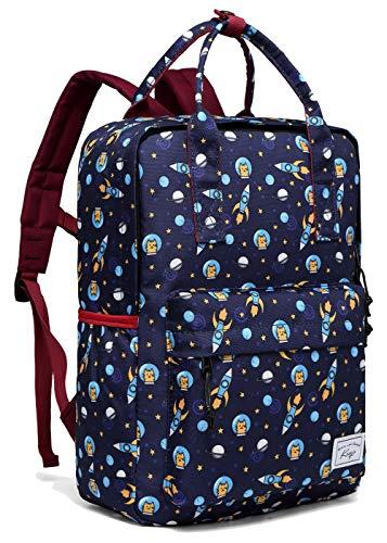 Kinderrucksack Jungen, Kasgo Niedlich Wasserabweisend Vorschule Kinder Rucksack Kindergartenrucksack Kleinkind Rucksack mit Brustgurt Astronauten