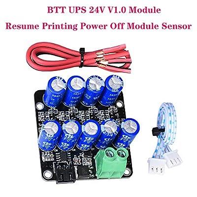 PoPrint BTT UPS 24V V1.0 Module Pressure Continue Power Off Module Sensor MINI UPS V2.0 12V for SKR V1.3 MINi E3 SKR Pro 3D Printer Parts (1 Piece)