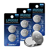 8pcs CT-ENERGY Rechargeable 2032 Batteries,LIR2032 3.6V Lithium Coin Button Battery for Car Remote Key,Replace 3v CR2032 Battery