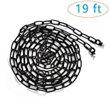 Eumyviv 19ft Heavy Duty Chain for Light Fixture, Pendant Light Extra Chain Permits Installation of Chain-Hung...