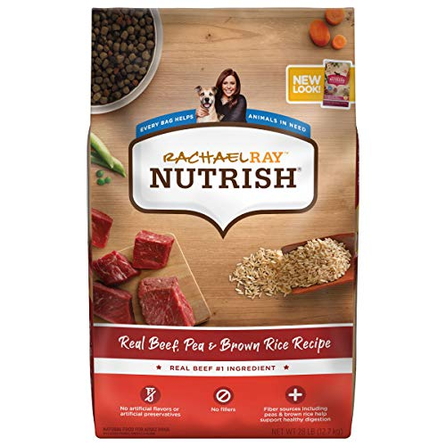 Rachael Ray Nutrish Premium Natural Dry Dog Food, Real Beef, Pea, & Brown Rice Recipe, 28 Pounds (Packaging May Vary)