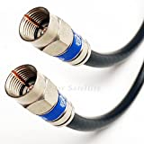 75ft Weather Seal Quad Shield Outdoor 3GHZ RG-6 Coaxial Cable 75 Ohm (Satellite TV or Broadband Internet) Anti Corrosion Brass Connector RG6 Fittings Assembled in USA by PHAT SATELLITE INTL