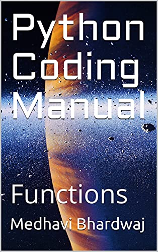 Python Coding Manual: Functions Front Cover