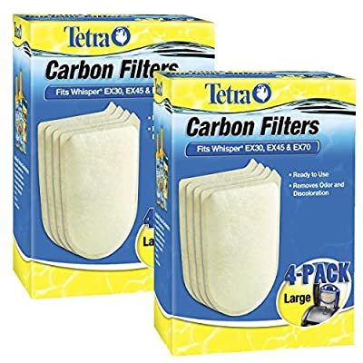 Tetra 26332 Whisper EX Carbon Filter Cartridges, Large, 8-Pack
