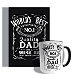 Set di tazze e biglietti per la festa del papà, ispirati al whiskey World's Best Dad (Card)