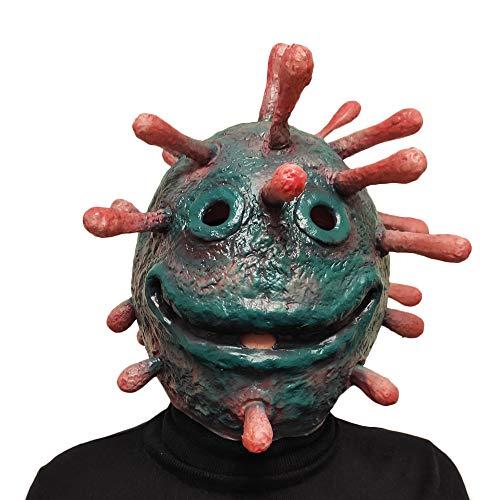 2020 Halloween Costume Latex Blue Virus Balaclavas Cosplay Mask