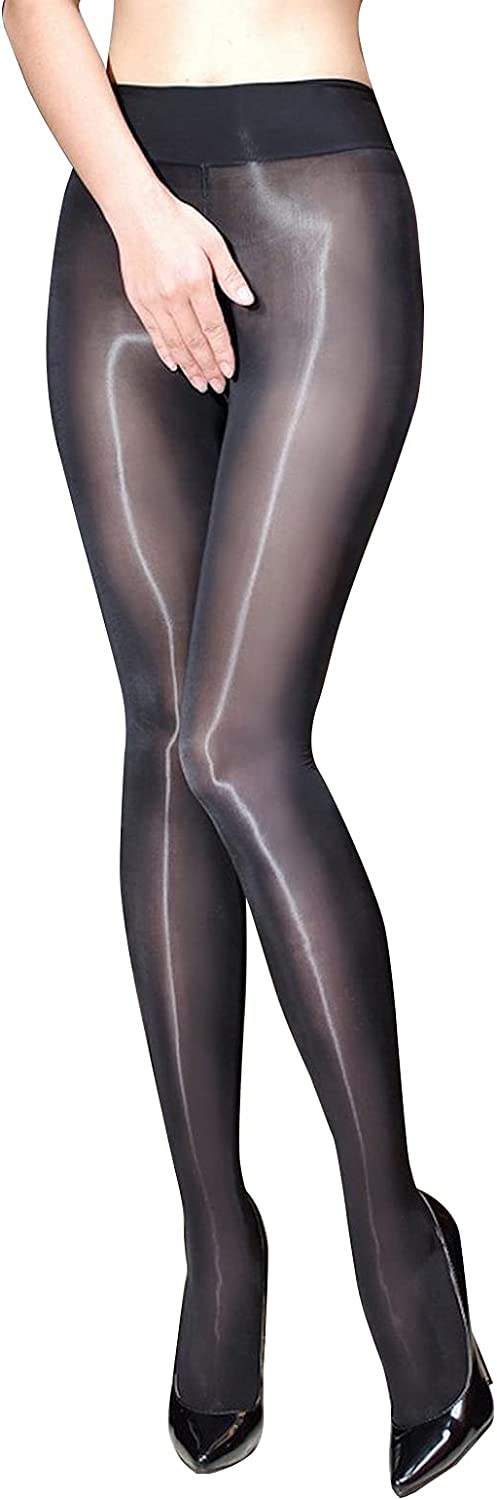 BEFASY Women's Sexy 8D Shiny Glossy Pantyhose Plus Size Ultra Shimmery Stockings Tights
