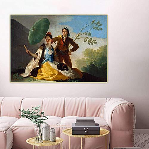 Malen Nach Zahlen Malen Für Erwachsene Francisco Goya 《Der Sonnenschirm, 1777》 Leinwand Art Kit DIY Ölgemälde Für Anfänger