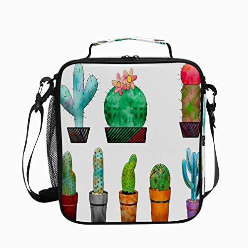 Bolsa de almuerzo con aislamiento impreso para mujeres congelable térmica Cactus Cactus Planta a prueba de fugas Tote Lunch Bag Hampton Keep Cooler Wide Open impermeable Lunch Box