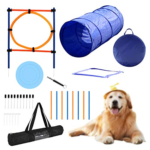 YON.SOU. Dog Agility Training Equipment, Obstacle Course Training, (with Dog Agility rods Jump&...