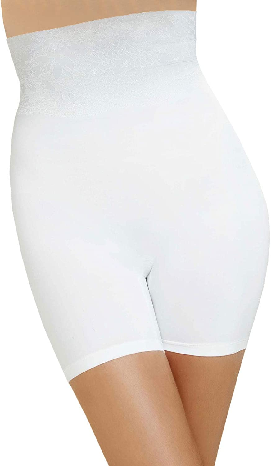 Body Super sale period limited Wrap Shapewear White The OFFicial mail order Panty Leg Long Catwalk High-Waist