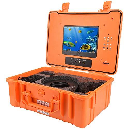 Draagbare fishfinder, onderwater drone 7 inch DVR recorder fishfinder 20 m HD CCD 700TV visserijcamera waterdichte onderwater DVR videocamera met 8 GB TF-kaart, ijsvissen fishfinder (EU-stekker)