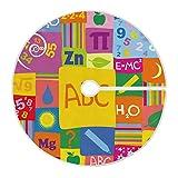 ART VVIES Gonna Albero di Natale Allegro 36 Pollici Personalizzata per Decorazioni Natalizie per Feste Natalizie - Alfabeto con Numeri di cifre scientifiche colorato