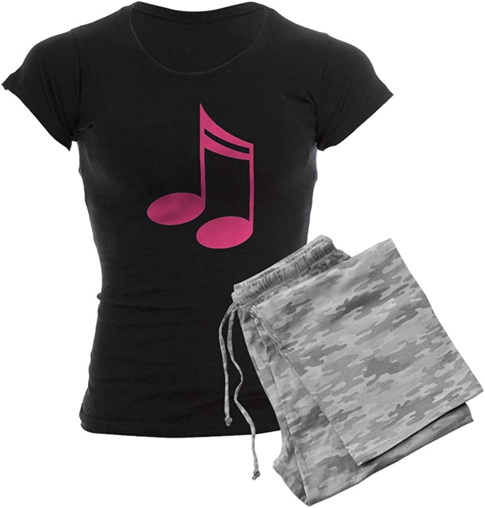 CafePress Cute Pink Popular product Music Women's Notes PJs Plaid OFFicial site