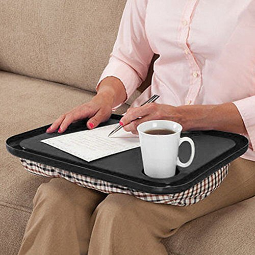 XINRONG Oversized Memory Foam Lap Desk for Laptops - Portable Home Office Stand - Couch Bed Table TV Tray for Food - Fits Computers Up to 17 Inches - Table - Stand - Great for Working from Home