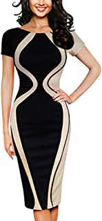 Summer Dresses for Women,Fashion Womens Sexy Short Sleeve Party Business Style Pencil Mini Dress