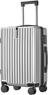 スーツケース キャリーバッグダブルキャスター 二年 機内持込 耐衝撃 ファスナー式 人気色 超軽量 TSAローク 360度回転 静音 PC材質 搭載 旅行 ビジネス 出張