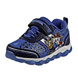 Josmo Boys' Nickelodeon Sneakers - Paw Patrol Chase and Marshall Light-Up Running Shoes, Blue Light Up, Size 7