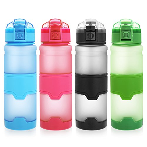 CAMTOA Bottiglia Acqua di Sport, 500ml/17oz Borraccia Sportiva,Senza BPA Eco-Friendly Tritan Plastica Water Bottle,Riutilizzabile Jug Container,A Prova di Perdite,Un Clic Aperto,Bottiglia con Filtro