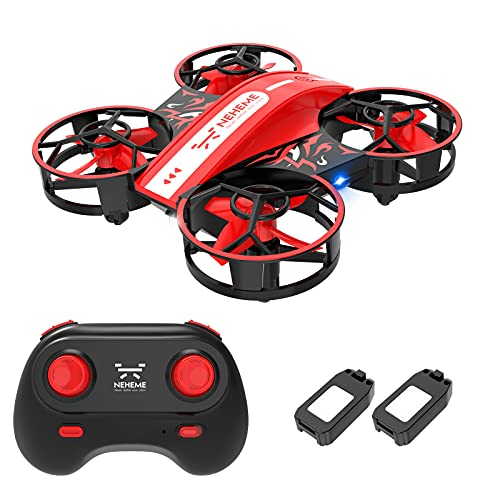 NEHEME NH330 Mini Drones for Kids Beginners Adults, RC Small Helicopter Quadcopter with Headless Mode, Auto Hovering, Throw to Go, 3D Flip and 2 Batteries, Indoor Flying Toys/Gift for Boys Girls