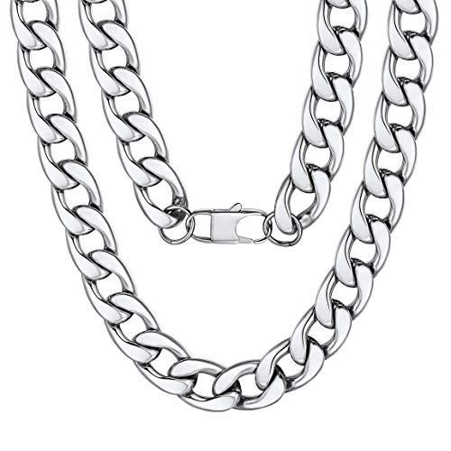 ChainsPro Kubanische Kette Halskette Herren Silber 15mm Breit Miami kubanische Gliederkette Hip Hop Kette Männer Halskette 71cm Lang