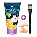 Elizavecca Milky Piggy Kangsi Pack 24k Gold Mask with Facial Mask Brush, Blackhead Removal, Deep Cleansing, Skin Softening, Peeling face mask for Skin Trouble, Pore Care