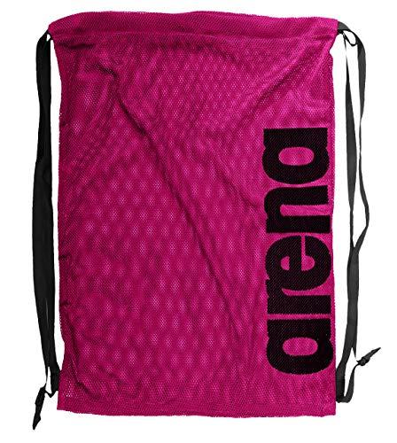 arena Unisex 2-in-1 Netztasche Rucksack Mesh Bag (Schnelltrocknend, Kordelverschluss), Fuchsia (59), One Size
