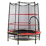 Jarchii Trampoline d'intérieur, 55 Pouces Ronde extérieure/intérieure Junior Trampoline Junior Jump Bounce avec Filet de sécurité pour Tout-Petits Jeu de sécurité pour Enfants