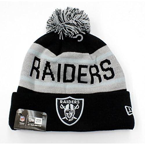 Oakland Raiders New NFL 2015-2016 New Era Authentic Biggest Fan Redux  Beanie Hat Knit 6b26215b1047