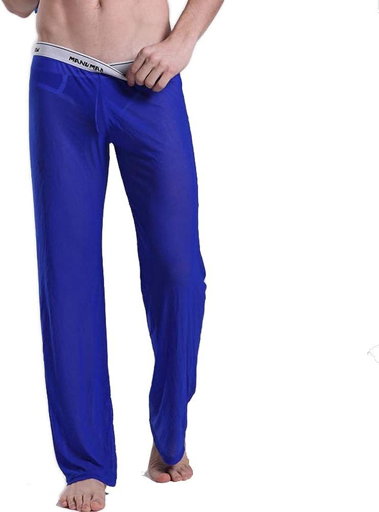 CaveHero Men's Mesh See Through Pajama Pants Nightwear Sleep Bottoms Underwear