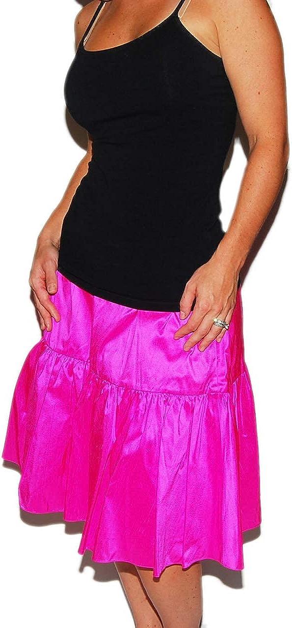 Ralph Lauren Polo Black Label Womens Silk Metallic Bright Pink Dress Skirt