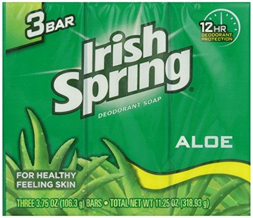 Irish Spring - Aloe déodorant savon 115 ml X 3 savons
