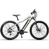 WXX Sport E Tempo Libero Mountain Bike 29 Pollici Bici Elettrica 36V 350W Batteria al Litio Biciclette Ebike, Livello 5 Pedal Assist Ammortizzatore Variabile Speed Bike,Giallo
