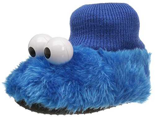 Sesame Street Elmo Cookie Monster Boys Girls Sock Top Slippers (Toddler/Little Kid)