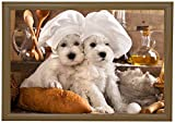 Marko Homewares Puppies Bean Bag Lap Tray Student Tv Dinner Food Breakfast Bed Unique
