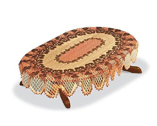 ovale Marron foncé/brun roux en dentelle Nappe NEUF 120 cm x160 cm (119,4 x 160 cm) un cadeau idéal