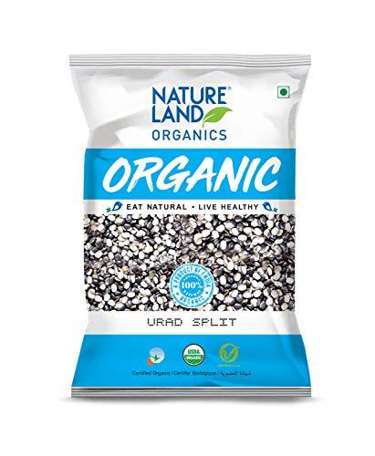 Natureland Organics Urad Chilka / Split 500 Gm - Organic Healthy Pulses