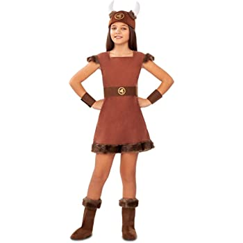 My Other Me Disfraz de Vikinga Odín para niña: Amazon.es: Juguetes ...