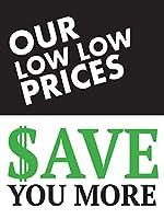 当社の低価格で、小売用ディスプレイサインを節約できます。幅18インチ×高さ24インチ。 Pack of 5