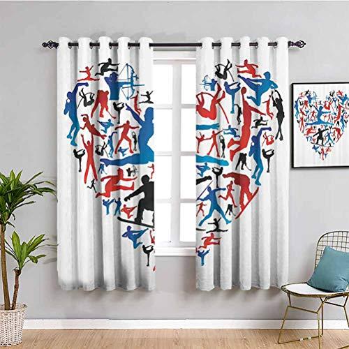 Olympische Dekorationen, Sammlungsraum, verdunkelter Vorhang, Action-Sport-Silhouetten in Herzform, Bogenschießen,...