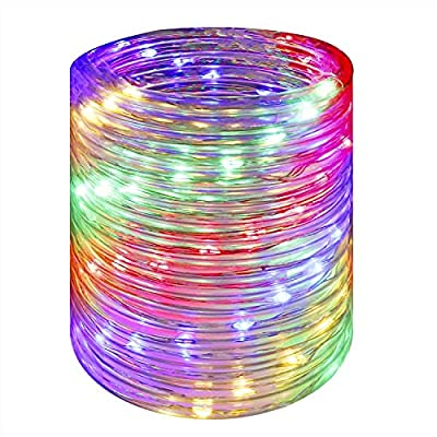 Solar Rope String Lights, Copper Wire Fairy Lig...