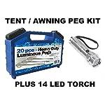 Leisurewize LWACC506 Camping Tent & Awning Glow In The Dark Pegs & Box Set - 20 Piece Kit 5