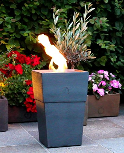 Flammentopf Firenze Piombo, Bio-Ethanol Feuerstelle aus Impruneta Terrakotta