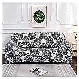 WXJ Cubierta Colorida geométrica del sofá de la impresión Cubierta elástica de la Cubierta del sofá Anti-Sucio Sofá de la Toalla de la Cubierta del sofá