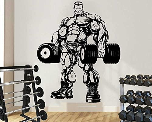 Hombre musculoso culturista Hércules gimnasio Fitness deportes pesas entrenamiento vinilo pared pegatina dormitorio culturismo Club decoración del hogar Mural