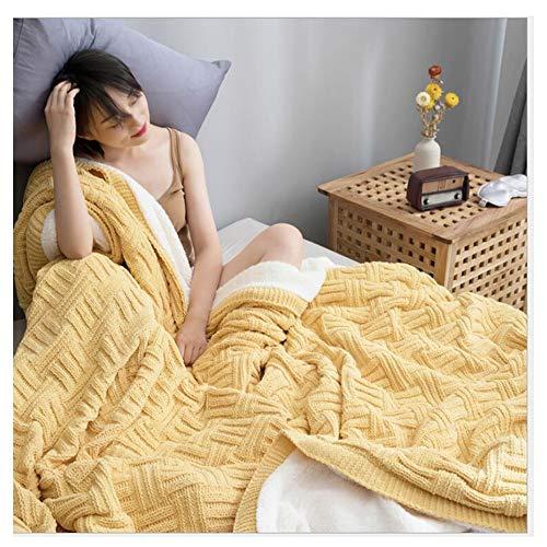 FUFU Mantas y mantitas Knitting manta Lanza for Sofá Sofá cama de algodón al aire libre Playa Manta Lanza for adultos y niños, for todas las estaciones de la armadura de la galleta granja Throw Blanke