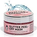 new body® Pinke Gesichtsmaske für schönere Haut - Anti Mitesser Peel of Mask mit Glitzer Effekt -...