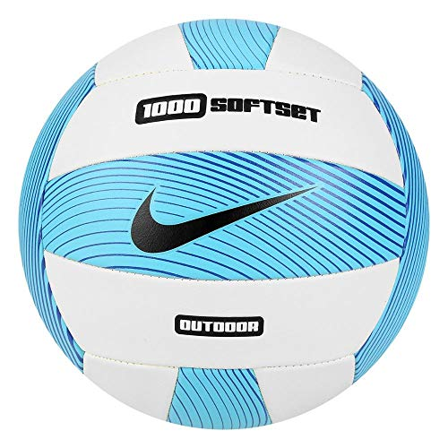 Nike Softset Outdoor Volleyball Deflated, Gamma Blue/White/Hyper Cobalt/Black, One Size